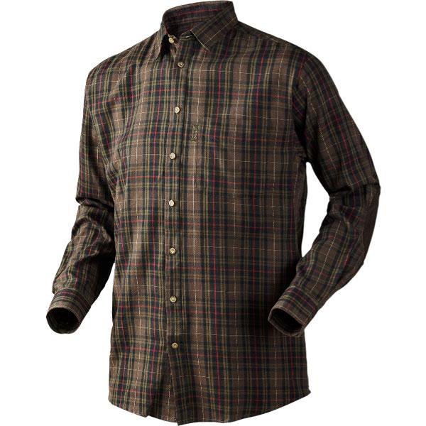 Image of   Seeland Pilton Skjorte Faun Brown Check S