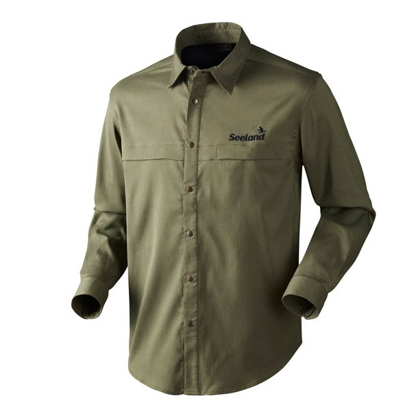 Seeland Timber Solid Skjorte Moss Green