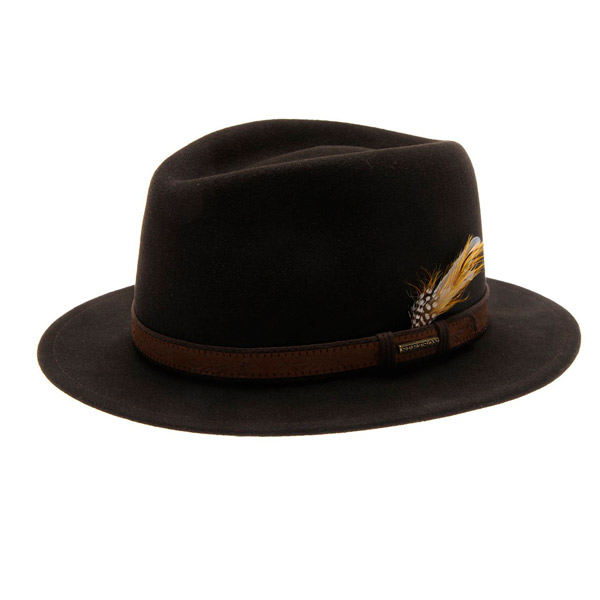 Stetson Traveller VitaFelt Dark Brown M thumbnail