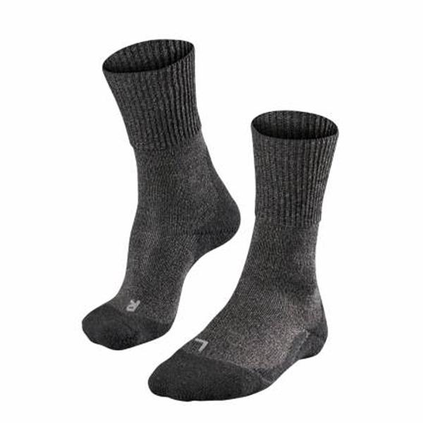 Falke TK1 Wool strømpe Anthra mouline 39-41 thumbnail
