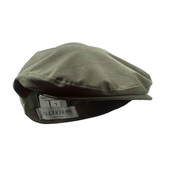 Image of Beretta Waterproof Flat Cap Green L