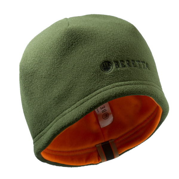 Image of Beretta Reversible Beanie Dark Green & Orange XXL