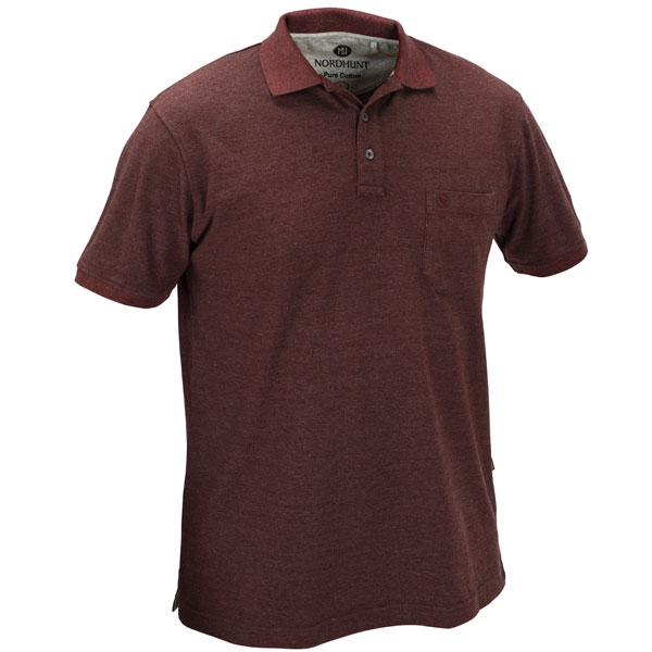 Nordhunt Beta Polo Shirt Barolo Wine Melange 6XL thumbnail
