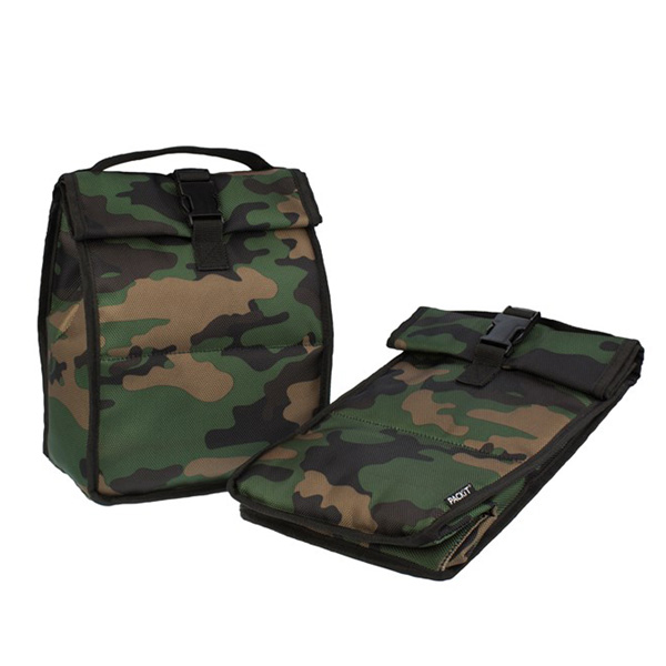 Image of Packit Freezable RollTop Lunch Bag Camo - 4,4L