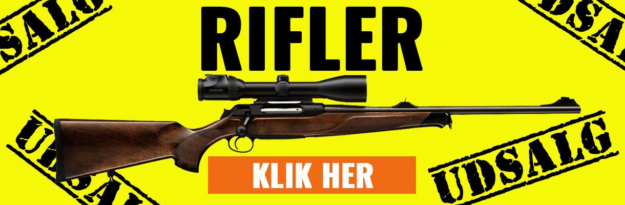 Udsalg på rifler