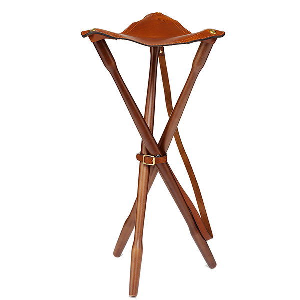 Image of Laksen Teak & Leather Tripod 80cm ONE SIZE