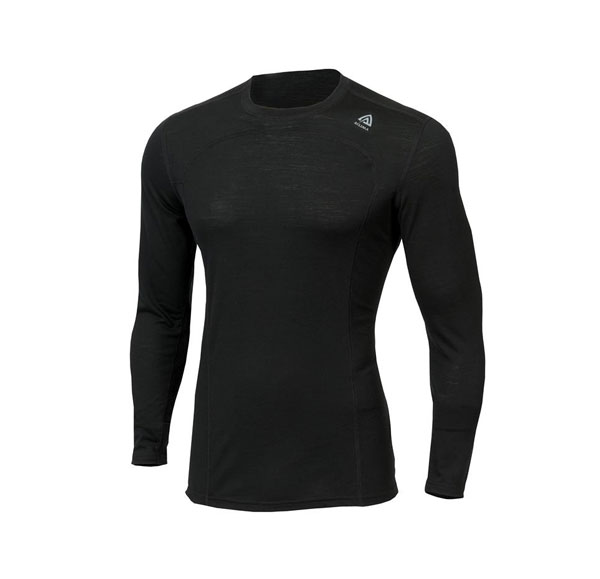 Image of   Aclima LightWool Crew Neck Jet Black 3XL