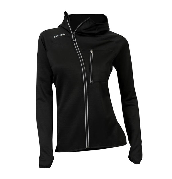 Image of Aclima Woolshell Jacket With Hood Jet Black L
