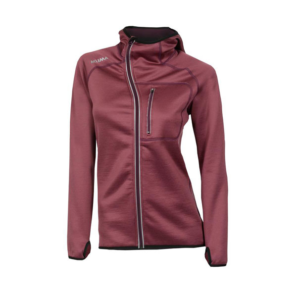 Image of Aclima Woolshell Woman Jacket With Hood Damson L