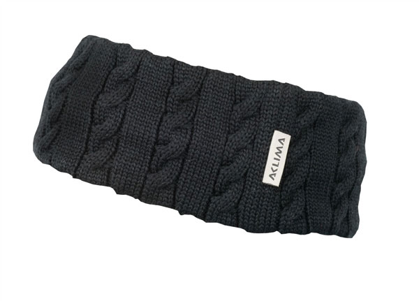 Image of   Aclima Knitted Headband Jet Black ONE SIZE