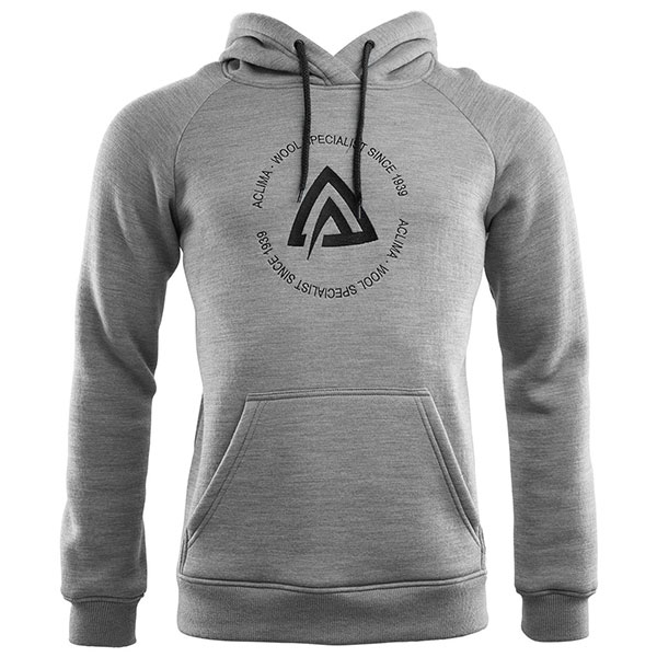 Image of   Aclima Fleecewool Hoodie Fleece Grey Malange M
