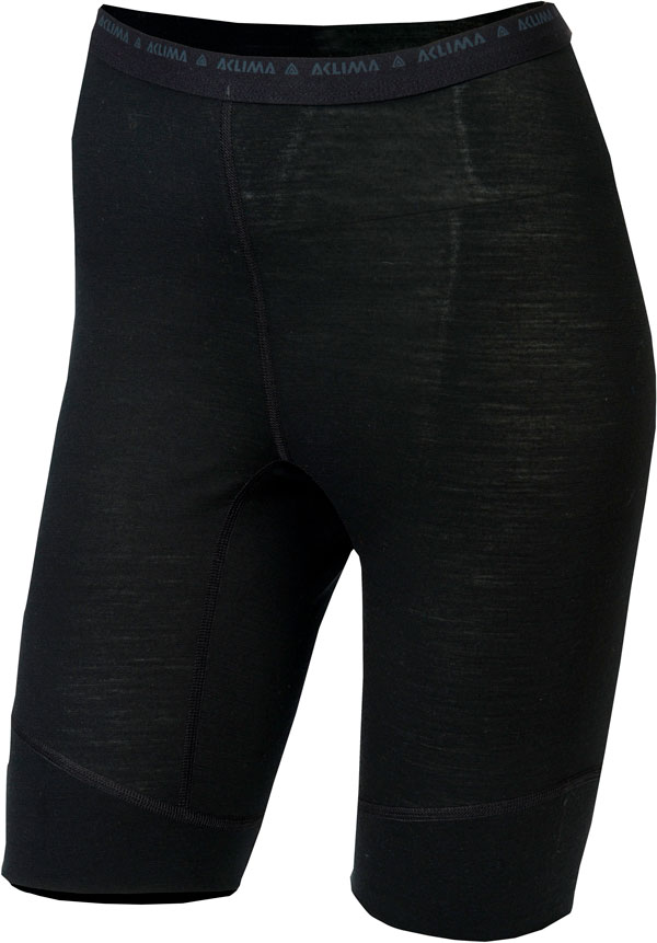 Image of   Aclima Lightwool Woman Long Shorts Jet Black L