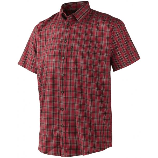 Seeland Burley S/S Skjorte Spicy Red Check