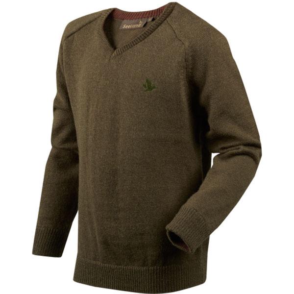 Seeland Clent Kids Pullover Shaded Olive Melange 12 År thumbnail