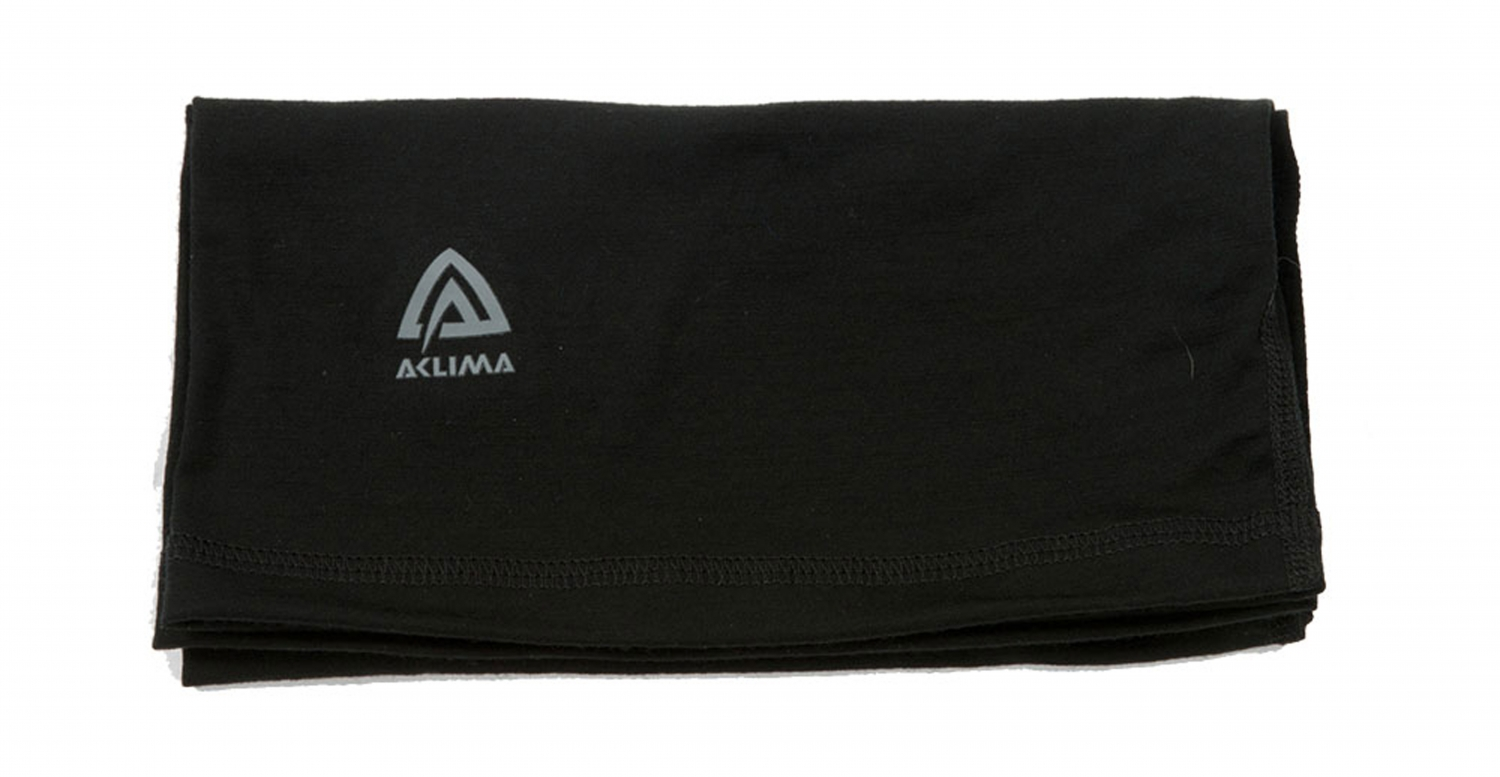 Image of   Aclima Lightwool Headover Jet Black ONE SIZE