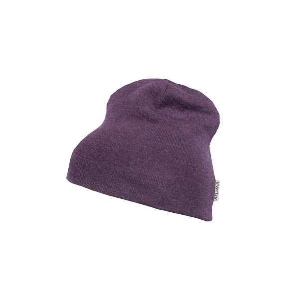 Image of Aclima Warmwool Classic Beanie Blackberry wine ONE SIZE