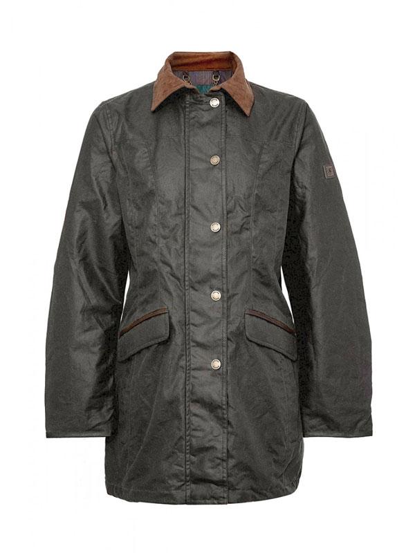 Image of   Dubarry Baltray Wax Cotton Lady Jacket Olive 34