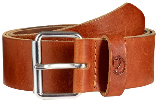 Image of Fjällräven Singi Belt 4cm. Leather Cognac 85/M
