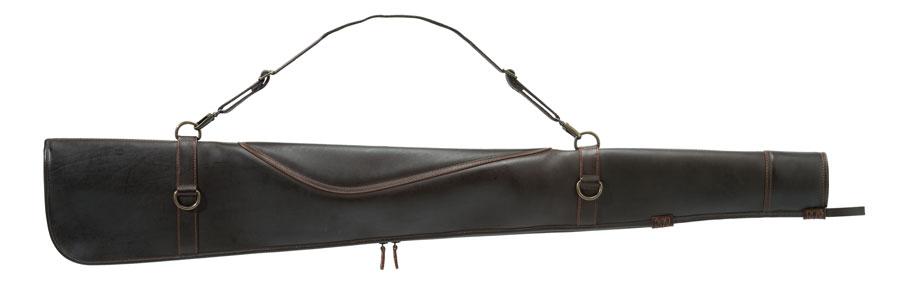 Image of Beretta Hoblon Læder Geværfoderal 130cm Mørkebrun