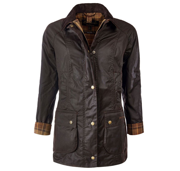 Image of Barbour Classic Beadnell Wax Jakke Rustic UK10/DK36