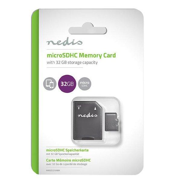 MicroSDHC 32 GB Hukommelseskort