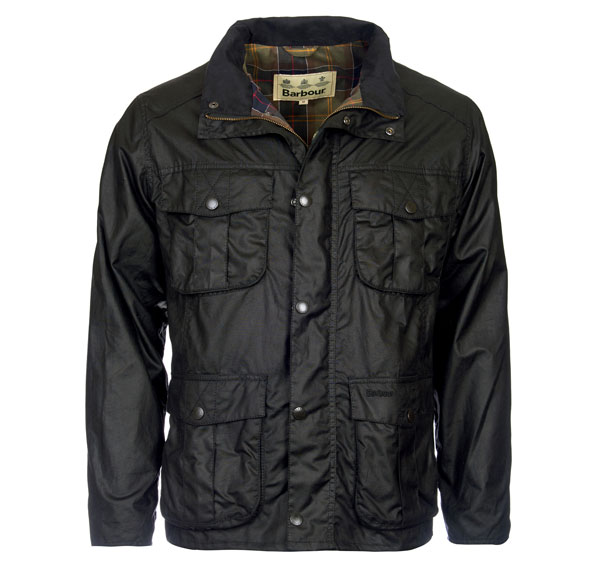 Image of Barbour New Utility Wax Jacket Black L