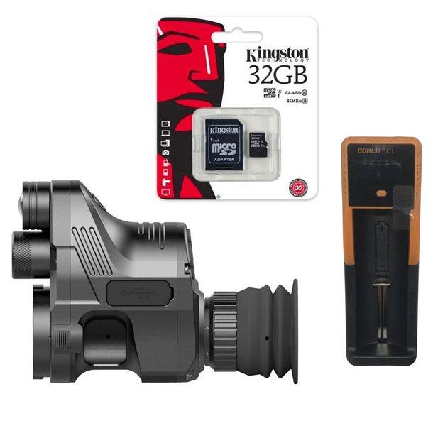 Pard NV007 Natkikkert Clip-On Inkl 32GB SD-kort og Oplader