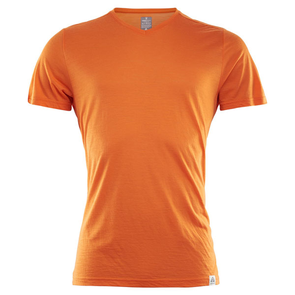 Image of   Aclima Lightwool T-Shirt Orange Popsicle L