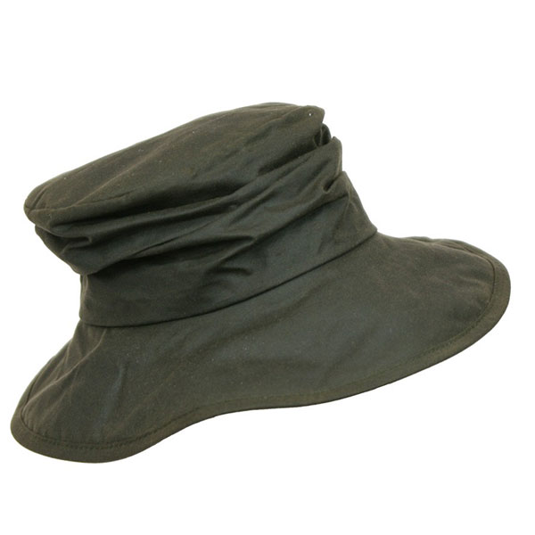 Image of Barbour Wax Ladies Sports Hat Oliven S